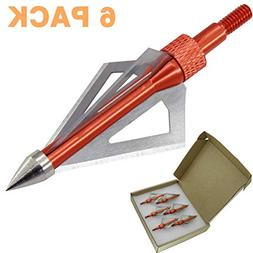 Maifield 100 Grain 3 Fixed Blade Bowhunting Broadheads 6 Pcs