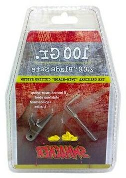 Swhacker 100 Grain 2-Inch Replacement Blades , Large, Silver