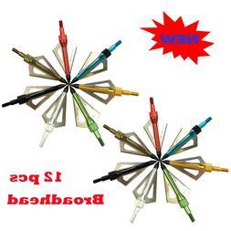 100gr Broadheads Tips 3 Blade Arrow Heads Archery Target Hun