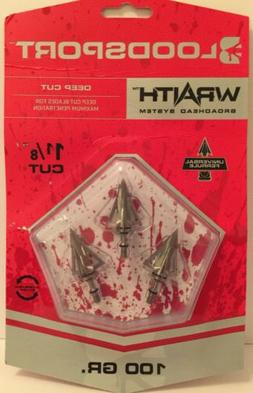Blood Sport Archery 10781 Wraith System Broadheads 100 Grain