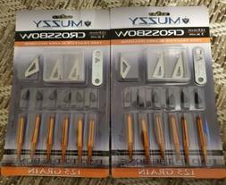 "12 Muzzy 3-Blade Crossbow Broadheads 125 grain 1 3/16""  cut-"