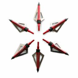 12 broadheads 100grain 3blade hunting arrowheads
