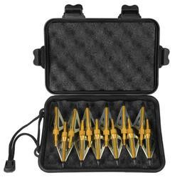 12 X Hunting Broadheads 100 Grain 3 Fixed Blade Arrow Heads