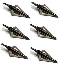 GPP 125 Grain Fixed Three Blade Broadheads, , Compatible wit
