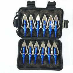 "12Pcs Flat Broadheads 100 Grain 0.9"" Cut Arrow Archery Arrow"