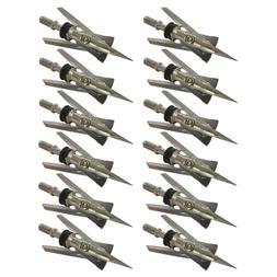 "12Pcs RAGE Broadheads 125 Grain 2.4"" Cut Crossbow Compound B"
