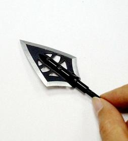 12pcs Hunting Broadhead 100grain Fixed Blade Arrowhead for C