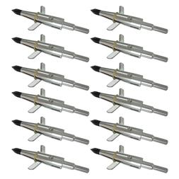 "12Pcs Hunting Broadheads 100Gr 1.75"" Cut Arrowheads Compound"