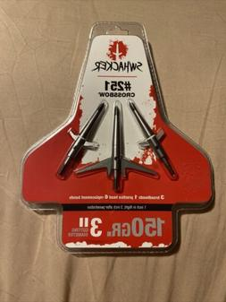 "Swhacker 150 Gr. 3"" Cut, Crossbow Broadhead,-3 Pack-251"