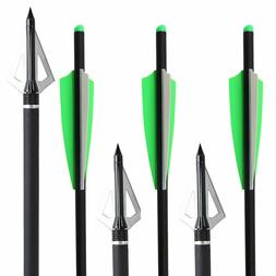 16/20'' Carbon Crossbow Bolts Arrows Field Point or 3 Blade