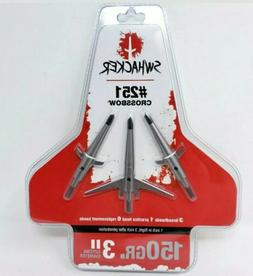 Swhacker #251 Crossbow Broadheads 150 Gr. 3'' Cut SWH00251 S
