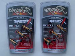 "2pks Rage Slipcam X-treme extreme Mechanical  100 Grain 2.3"""