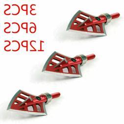 3/6/12PCS 125/100 Grain Hunting Broadheads Arrow Heads Arche