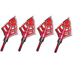 3 Archery Broadheads 4 Blade 125 Grain Hunting Arrowheads