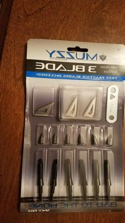 Muzzy 3 Blade 100 Grain 1 3/16 Cut Package Of 6 NEW!!