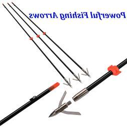 3 Powerful Bow Fishing Arrows Fish Hunting Broadhead Safe Sl