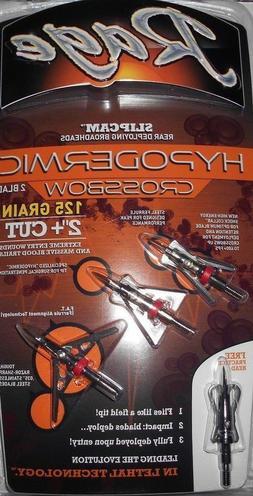 """39700 Rage Hypodermic Crossbow Broadheads! 125 Grain 2"""" Cut"""