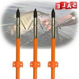 """3Pcs 32"""" Hunting Fishing Shooting Bowfishing Arrows Broadhea"""
