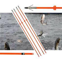"3X 34"" Archery Bow Fishing Arrow Broadheads and Safety Slide"
