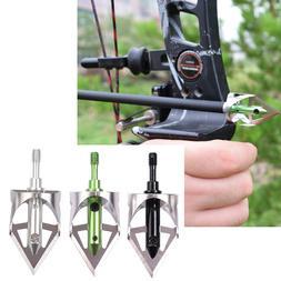 3X Broadheads 100gr Arrowheads Tips for Archery Bow Target O