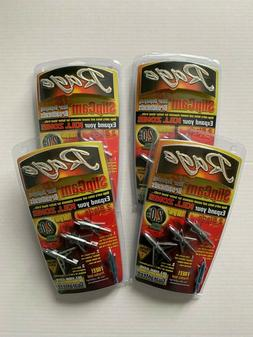 "4 packs RAGE SlipCam Rear Deploying 2-Blade SC 2"" + Cut Broa"