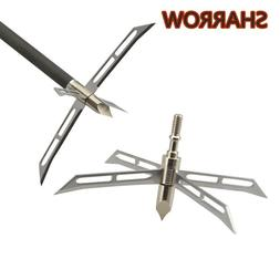 6/12Pcs 186Grain Hunting Tips Arrowheads <font><b>4</b></fon