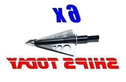 6 Blur™ Broadheads 3 blade 100 grain Archery Hunting Bow D
