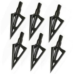 6Pcs 100Grain 3 Blades Hunting Steel Arrow Broadheads for Co