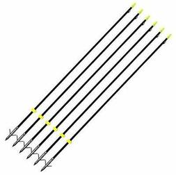 6PK GPP 32 inches Hunting Bowfishing Arrows with Barb Broadh