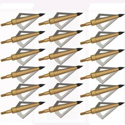 6x 125 Grain Fixed blade Broadheads Arrow Head for Crossbow
