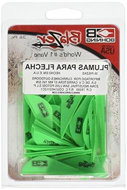Bohning Archery Blazer Vanes 2In. 36Pk Neon Green 10831-Ng