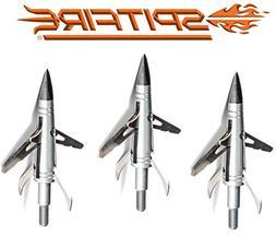 NAP Spitfire Doublecross Mechanical Broadhead 4 Blade 2 Cut