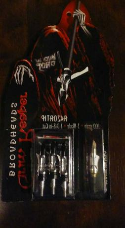 "Grim Reaper Archery RazorTip Broadhead - 1 3/8"" Cut - 100 Gr"