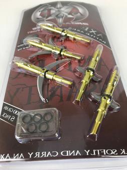 axe battle axe mechanical expandable broadhead 100