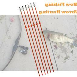 "Bow Fishing Arrows Fish Hunting 32"" Fiberglass Shaft Broadhe"