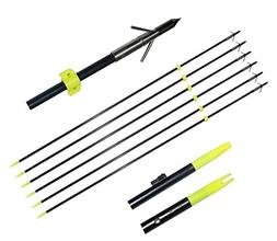 TOPARCHERY 6X 34 Bowfishing Arrows with Broadheads Arrowhead
