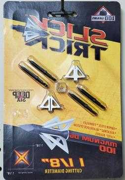 "Slick Trick Broadhead 1-1/8"" D6 Magnum 100 Grain 4 Pack STD6"