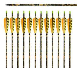 Albertu 31-Inch Camouflage Carbon Arrows Shaft with Turkey Y