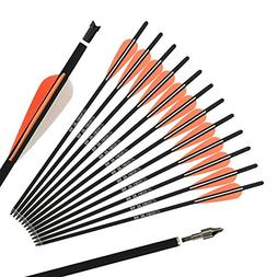 REEGOX 20 inch Carbon Crossbow Bolts Bio with 4-Inch Vanes O