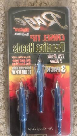 Rage Chisel Two Blade Practice Head, 125 Grain