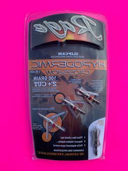 """Rage Crossbow Hypodermic Broadheads 100 Grain 2"""" Cut Slipcam"""