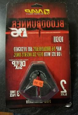 "NAP Deep Six D6 BloodRunner Broadhead 2-1/16"" Cut 100g - 3 p"