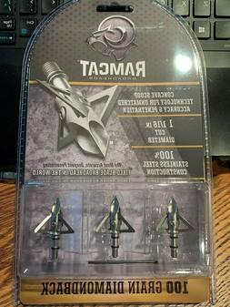Ramcat Diamondback Broadheads - 100 gr - 3 pack