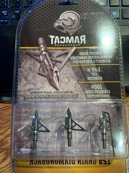 Ramcat Diamondback Broadheads - 125gr - 3 pack