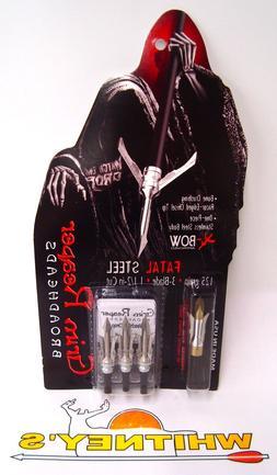 "Grimm Reaper Fatal Steel Broadhead 125 Gr 1 1/2"""