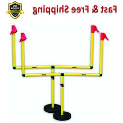 Football Adjustable Two Goal Post Set Adjust Lock Youth Outd