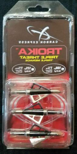 Carbon Express 125 Grain Troika Broadhead  Multi-Colored