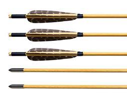 "Albertu 12 Pcs Hunting Arrows Wooden Target Arrows 5"" Turkey"