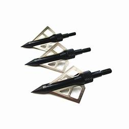 Hunting Broadheads,Leszhu Archery Arrows Heads 100 Grain Scr