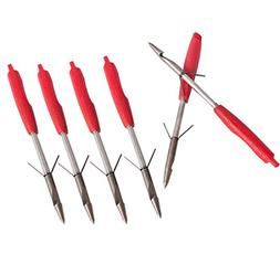 Huntingdoor 6Pack Hunting Fishing Broadheads Darts Bowfishin